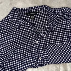 American Apparel gingham flannel cropped shirt